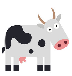 Cow geometric isolated on background vector