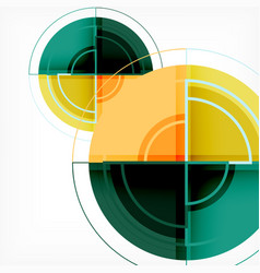 Creative circles geometric abstract background vector
