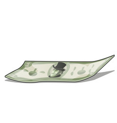 Crumpled banknote isolated on white background vector
