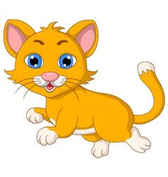 Cute cat cartoon expression vector