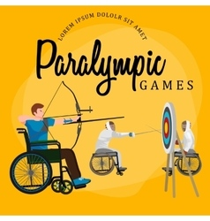 Disable Handicap Sport Paralympic Games Stick vector image
