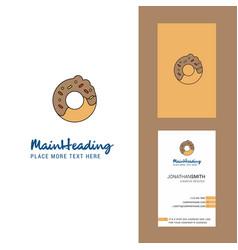 Doughnut creative logo and business card vertical vector