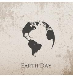 Earth Day grunge concrete Banner Design vector image