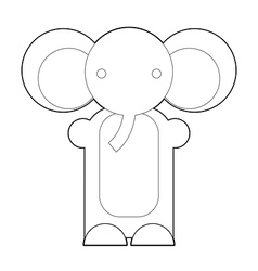 Elephant Outline vector image
