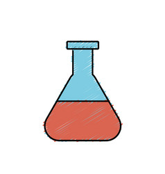 erlenmeyer flask to lab chemical design vector image