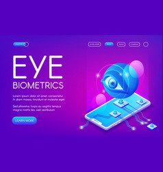 Eye biometrics technology vector