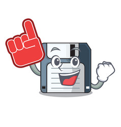 foam finger floppy disk in the writing wallet vector image