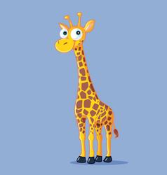 funny giraffe cartoon vector image