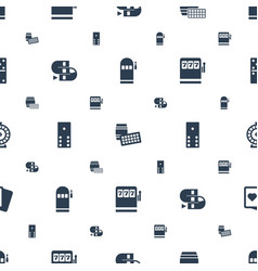 gambling icons pattern seamless white background vector image