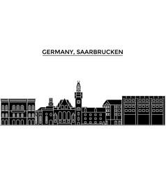 Germany saarbrucken architecture city vector