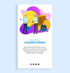 Get started with crowdfunding financing new idea vector
