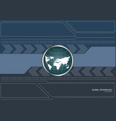 Global technology background concept vector