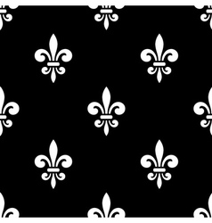 Golden fleur-de-lis seamless pattern black 5 vector