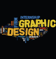 graphic design firm text background word cloud vector image