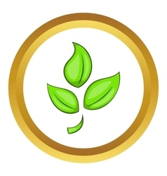 Green plant eco symbol icon vector
