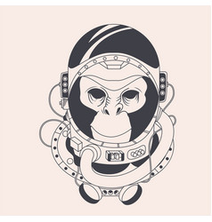 Hand draw astronout vector