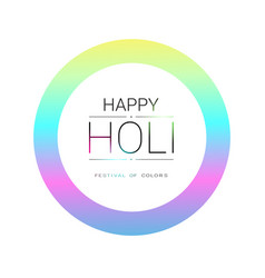 Happy holi religious india holiday traditional vector