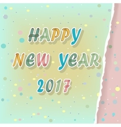 Happy new year 2017 Watercolor Greeting card vector image