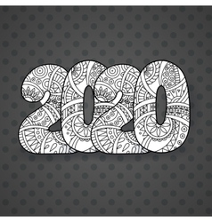 Happy New Year 2020 celebration number vector