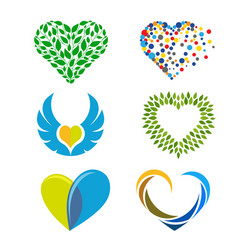 heart or love colorful logo vector image