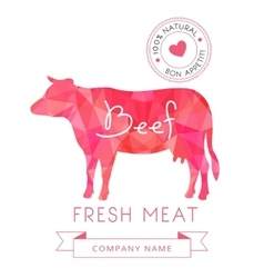 Image meat symbol beef silhouettes of animal for vector