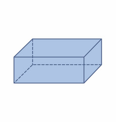 Isolated rectangular prism vector