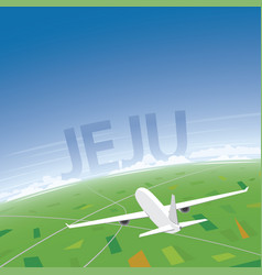 Jeju flight destination vector