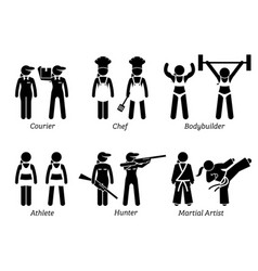 Jobs works and occupations for women artworks vector