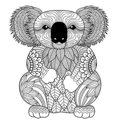 koala coloring book vector image