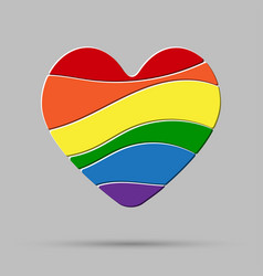 Lgbt love peace pride gay pride sign vector