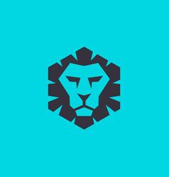 Lion head logo for modern technology business vector