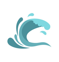 little wave icon cartoon style vector image