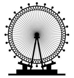 London eye ferris wheel icon vector