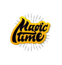 magic time christmas lettering and calligraphy vector image vector image