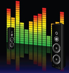 music volume with speaker vector image