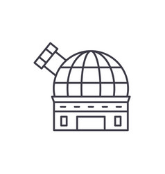observatory line icon concept observatory vector image