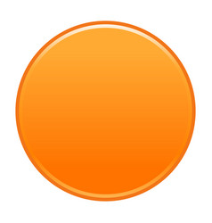 Orange circle button empty web internet icon vector