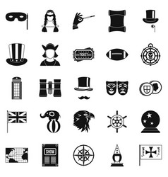 Outerwear icons set simple style vector