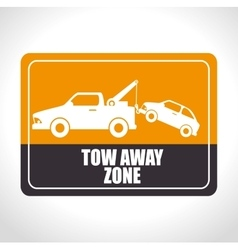 Parking or park zone design vector