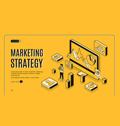 Planning marketing strategy service website vector
