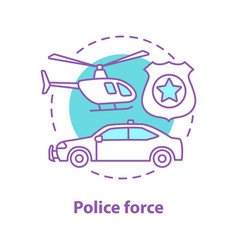 police force concept icon vector image