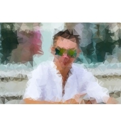 Portrait of a man vector