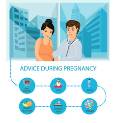 Prenatal clinic recommendations poster vector
