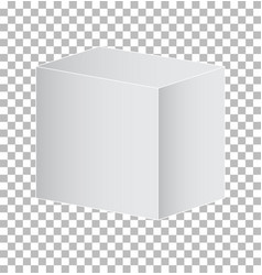 prism square isolated on transparent background vector image