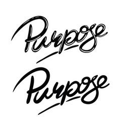 Purpose vector