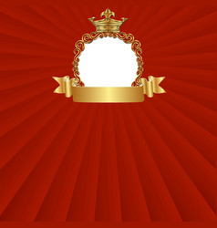 royal background with decorative frame vector image