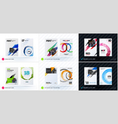 Set of artistic abstract design of business vector