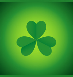 Simple graphic of three leaved shamrock vector