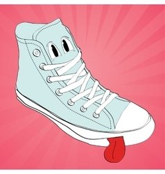 sneaker character cartoon design vector image