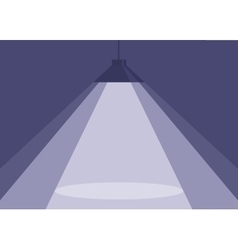 Spotlight of purple hanging lamp vector